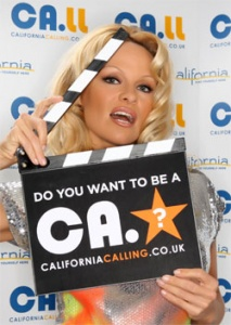 Pamela Anderson launches California Tourism's search for a new star for the TV ad