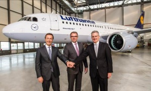 Lufthansa welcomes first Airbus A320neo commercial delivery