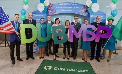 Aer Lingus takes off for Minneapolis−Saint Paul International Airport