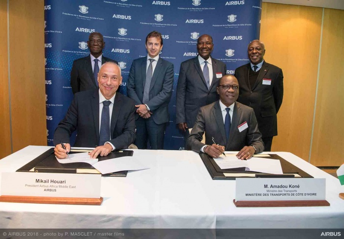 Côte d'Ivoire signs aerospace development deal with Airbus