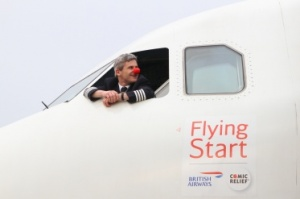 British Airways celebrating a year with Comic Relief