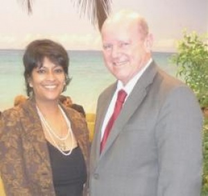 BBC's Keshini Navaratnam and Seychelles Tourism Minister meet in London