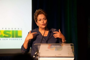 Brazilian president Dilma Rousseff in London for advertising campaign launch