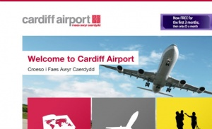 New website for Cardiff Airport