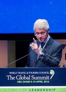 WTTC 2013: President Bill Clinton delivers keynote at Global Summit