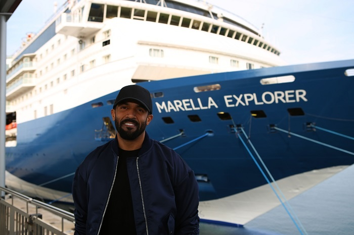 Craig David celebrates launch of Marella Explorer