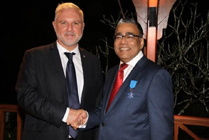 Payen recognised with Chevalier de l'Ordre National du Mérite by France