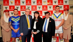 Emirates and Warrington Wolves sign sponsorship deal