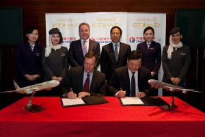 Etihad Airways signs wide ranging deal with China Eastern Airlines