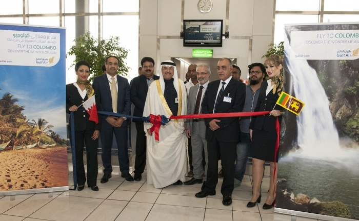 Gulf Air takes off for Colombo, Sri Lanka