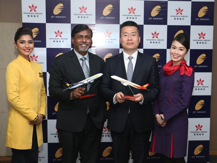 Hong Kong Airlines signs Jet Airways codeshare deal