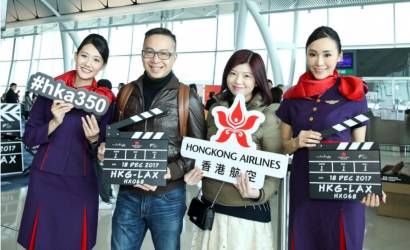 Hong Kong Airlines takes off for Los Angeles, USA