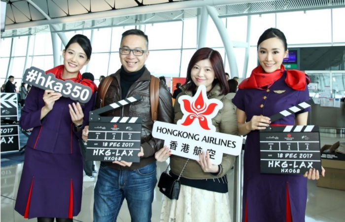 Hong Kong Airlines makes Hollywood bow
