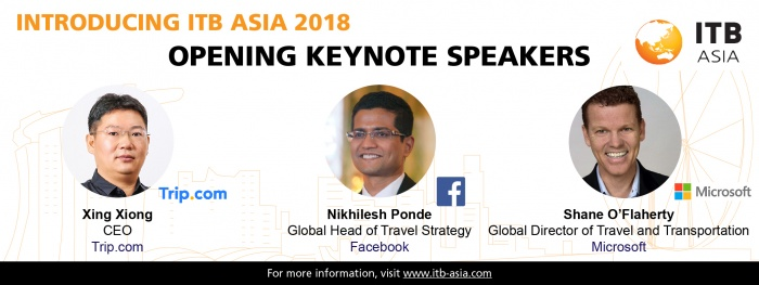 ITB Asia unveils keynote speaker line-up ahead of 2018 event