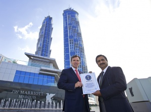 Guinness World Records officially recognises JW Marriott Marquis Hotel Dubai