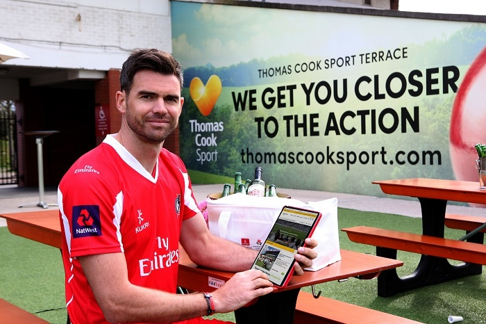 James Anderson appointed Thomas Cook Sport brand ambassador