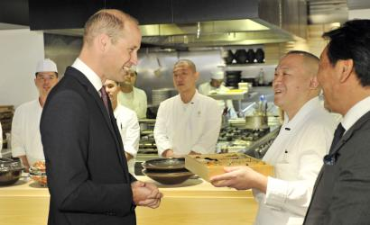 Duke of Cambridge opens Japan House in London