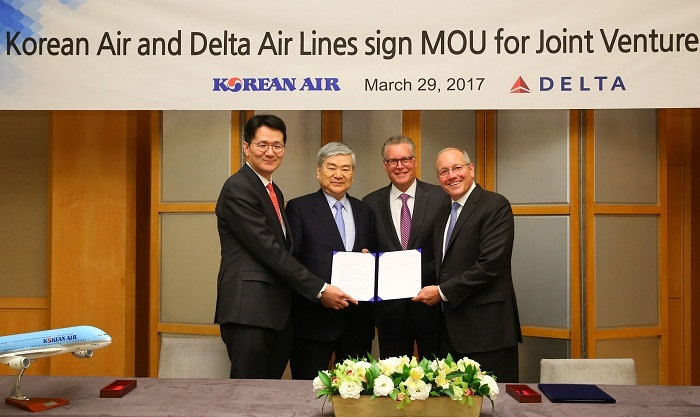 Korean Air signs comprehensive partnership with Delta Air Lines