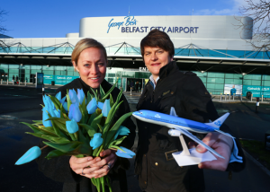 KLM flies into George Best airport in Belfast