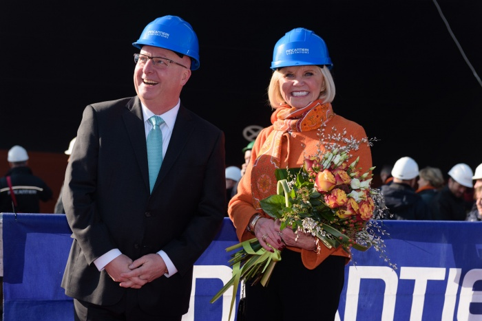 Holland America Line holds coin ceremony for ms Nieuw Statendam