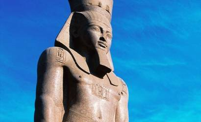 King Ramses II takes up position outside new Grand Egyptian Museum