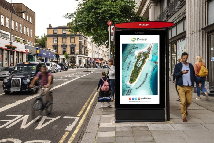 Maldives brightens London skies with new ad campaign