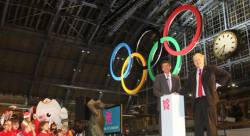 First giant Olympic Rings unveiled in London