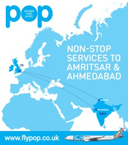 Low-cost carrier POP seeks to connect UK to India