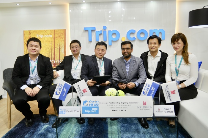 Ctrip.com signs distribution partnership with Millennium Hotels & Resorts