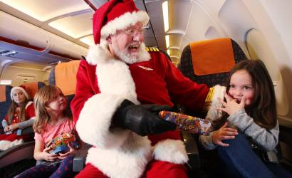 Santa stopped by airport security ahead of maiden flight
