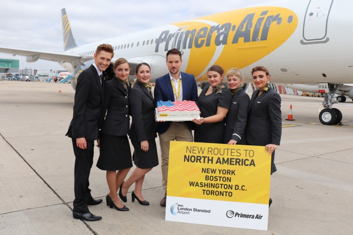 Primera Air takes off for Washing Dulles from London Stansted