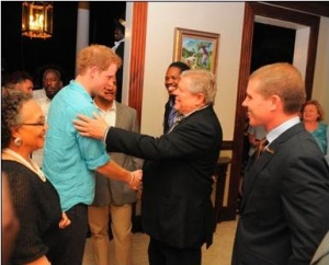 Sandals welcomes Prince Harry on Jubilee tour