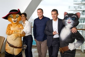 Royal Caribbean links with DreamWorks for Puss in Boots premier