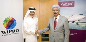 Qatar Airways links with Indian IT giant Wipro