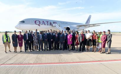 Qatar Airways arrives in Gaborone, Botswana, for first time