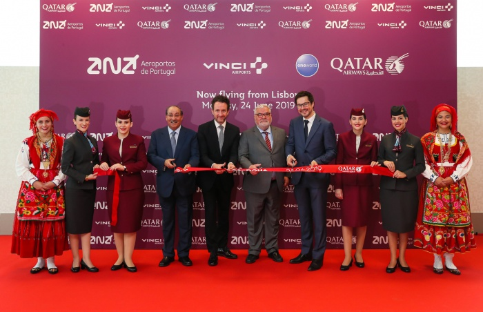 Qatar Airways lands in Portugal for first time
