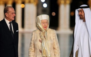 Queen arrives in Abu Dhabi to boost UK presence