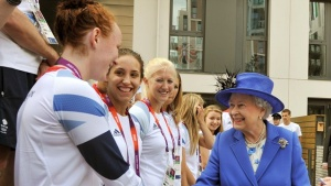 Queen visits London 2012 Olympic Park