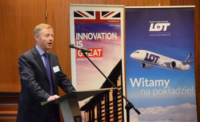 Lot Polish Airlines takes off for London City Airport