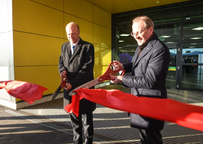 Transport secretary opens overhauled terminal at Luton Airport
