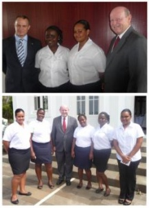 Seychellois hospitality and tourism students in La Reunion meet with Ministers