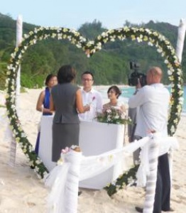 Chinese couple's wedding in Seychelles will boost visibility of islands in China