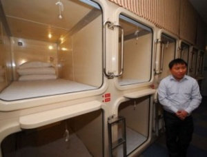 China moves into capsule hotel market