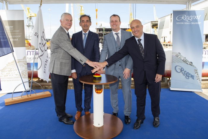 Luxury suites unveiled during Seven Seas Splendour keel laying
