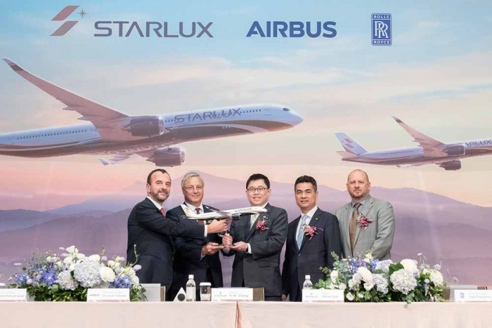 Starlux Airlines places A350 order with Airbus