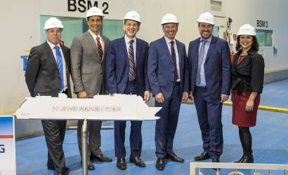 Norwegian Cruise Line celebrates Encore steel cutting in Germany
