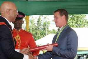 Stewart recognised with Order of Distinction in Jamaica