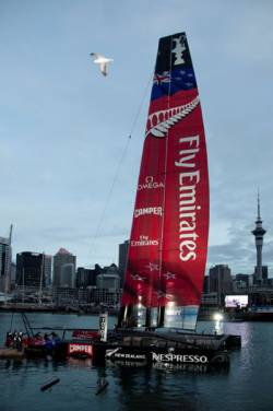 Team New Zealand's America's Cup yachting challenger ready to fly