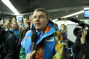 IOC president arrives in Sochi for Winter Olympics