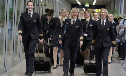 Thomas Cook Airlines flies all-female crew for International Women's Day